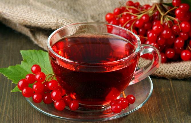 Чай из калины с медом