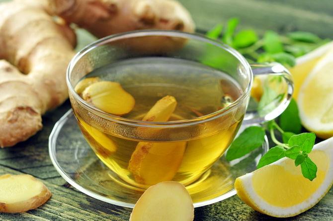 имбирный чай с лимоном и медом Ekland