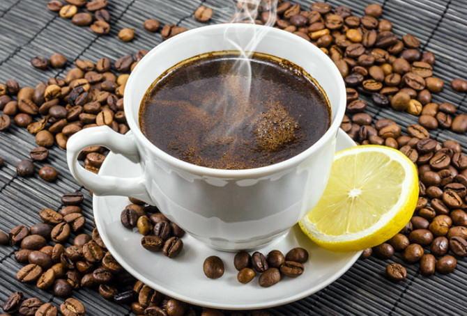 Кофе с медом и лимоном