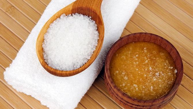 Медовый скраб с морской солью для тела