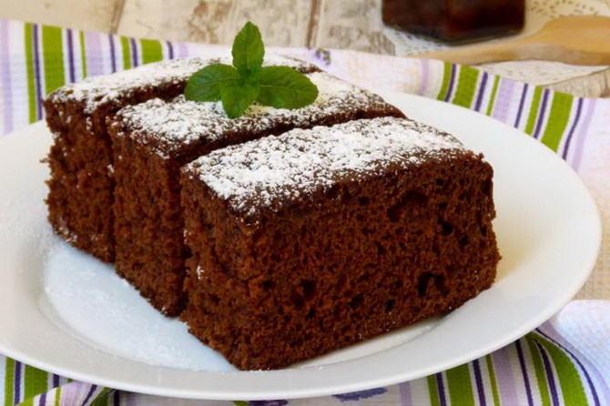 рецепт коврижки с вареньем и какао