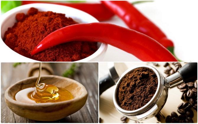 маска для похудения красный перец кофе мед