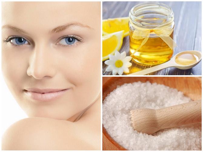 Маска для лица с медом и солью