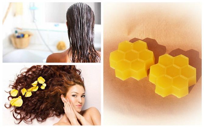 Маски волос на основе пчелиного воска