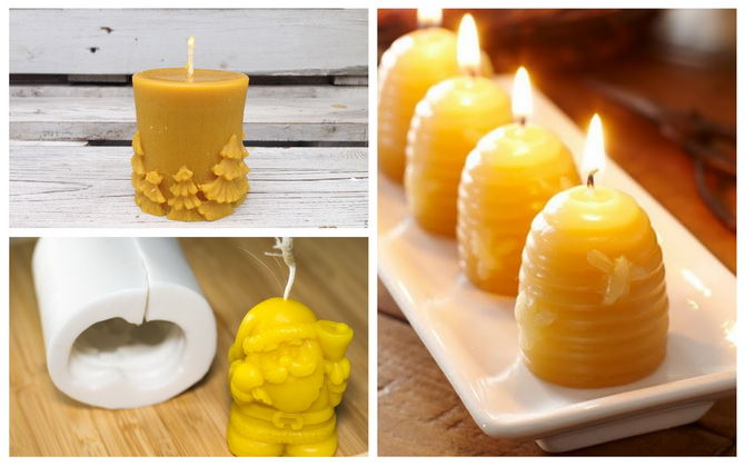 Свечи из пчелиного воска в домашних условиях