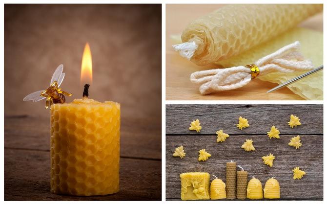 Свещи из вощины в домашних условиях