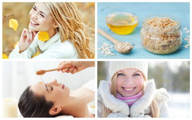 Медовый уход за кожей в осенне-зимний период